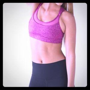 Lululemon pink speckled Get Down Sports bra 6
